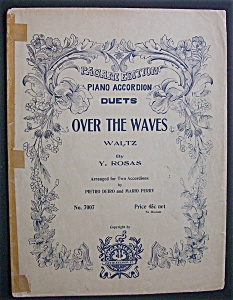 Sheet Music For 1929 Over The Waves Waltz