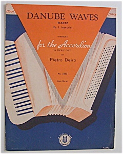 Sheet Music For 1919 Danube Waves Waltz
