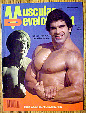 Muscular Development-february 1981-lou Ferrigno