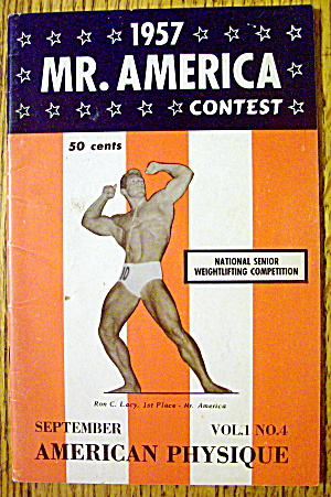 Mr. America Contest Magazine-september 1957-ron C. Lacy