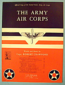 Sheet Music For 1942 The Army Air Corps