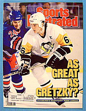Sports Illustrated Magazine-February 6, 1989-M. Lemieux (Image1)