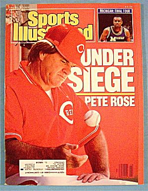 Sports Illustrated Magazine-april 3, 1989-pete Rose