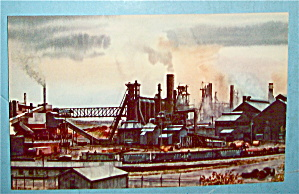 Industrial Scene Along Pittsburgh/Lake Erie RR Postcard (Image1)