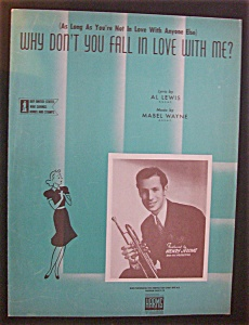 Sheet Music - 1942 Why Don't You Fall In Love With Me?