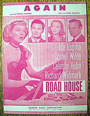 1948 Sheet Music For Again With Ida Lupino & More