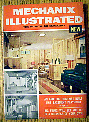 Mechanix Illustrated-november 1954-basement Playroom