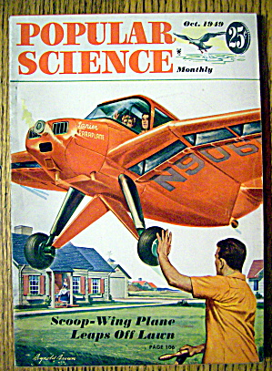 Popular Science-october 1949-scoop Wing Plane