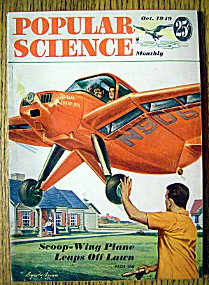 Popular Science-October 1949-Scoop Wing Plane (Image1)