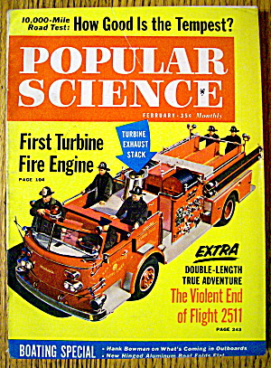 Popular Science-february 1961-1st Turbine Fire Engine