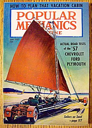 Popular Mechanics-January 1957-Plan Vacation Cabin (Image1)