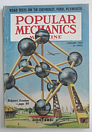 Popular Mechanics-january 1958-belgium's Atomium