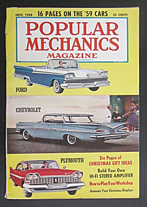 Popular Mechanics-november 1958-christmas Displays