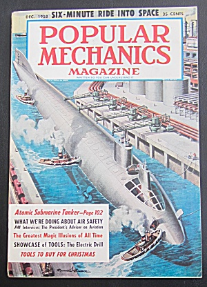 Popular Mechanics-december 1958-atomic Submarine Tanker