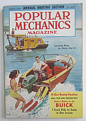 Popular Mechanics-march 1959-launching Ramp For Skiers