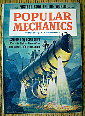 Popular Mechanics-february 1960-exploring Ocean Deeps
