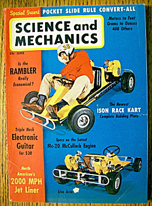 Science And Mechanics-june 1961-race Karts