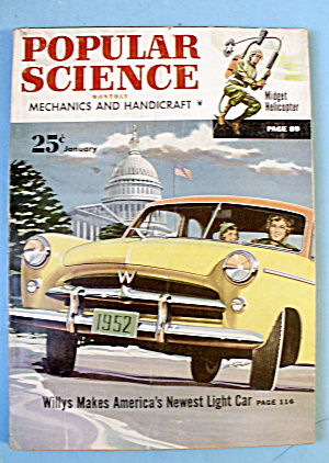 Popular Science-January 1952-Willys Makes Light Car (Image1)