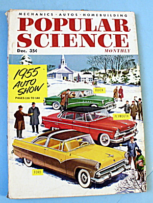 Popular Science-December 1954-1955 Auto Show (Image1)