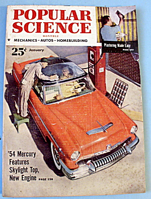 Popular Science-January 1954-'54 Mercury (Image1)
