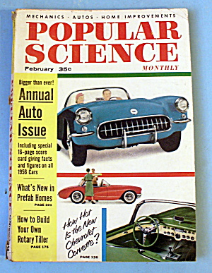 Popular Science-february 1956-how Hot Is The Corvette