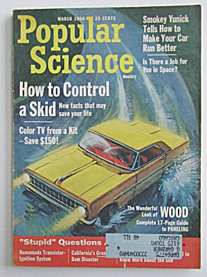 Popular Science March 1964 How To Control A Skid