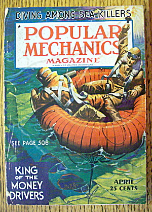 Popular Mechanics-april 1936-king Of The Money Drivers