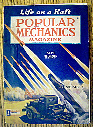 Popular Mechanics-september 1943-life On A Raft