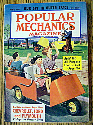 Popular Mechanics-april 1958-build Electric Cart