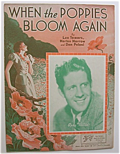 Sheet Music For 1936 When The Poppies Bloom Again
