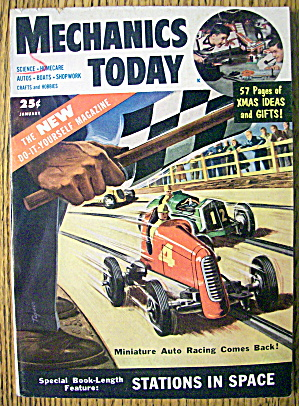 Mechanics Today January 1954 Miniature Auto Racing