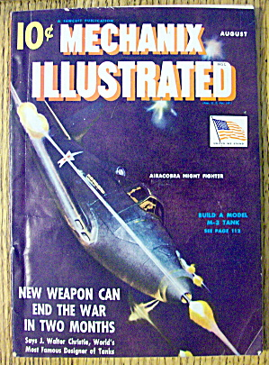 Mechanix Illustrated August 1942 Airacobra Fighter