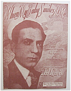 Sheet Music For 1920 When My Baby Smiles At Me
