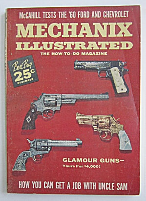 Mechanix Illustrated December 1959 Glamour Guns