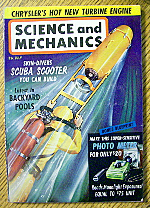 Science & Mechanics July 1961 Scuba Scooter
