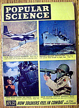 Popular Science April 1945 How Soldiers Feel In Combat (Image1)