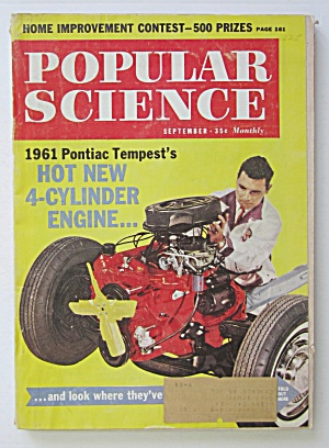 Popular Science Magazine September 1960 New Engine  (Image1)