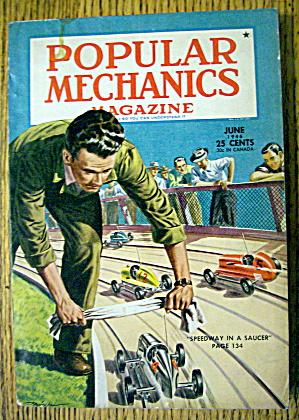 Popular Mechanics-June 1946-Speedway In A Saucer (Image1)