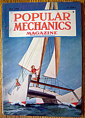 Popular Mechanics-july 1948-sailing The Winged Seabird