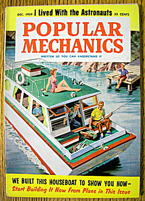 Popular Mechanics-december 1959-built This Houseboat