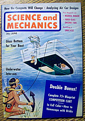Science And Mechanics June 1960 Glass Bottom Boat