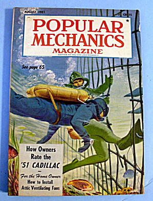 Popular Mechanics-august 1951-'51 Cadillac