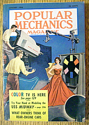 Popular Mechanics-january 1954-color Tv Is Here