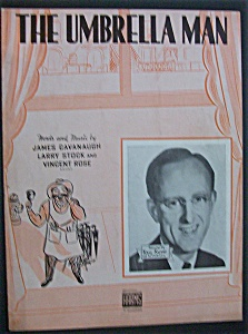 Sheet Music For 1938 The Umbrella Man (Kay Kyser Cover)