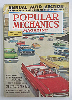 Popular Mechanics-january 1959-annual Auto Section