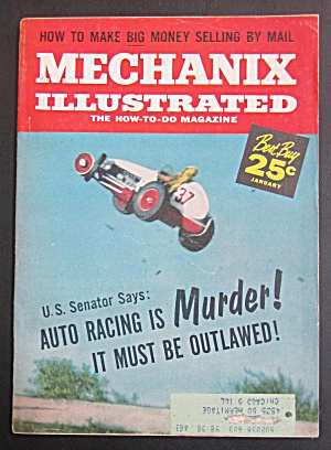 Mechanix Illustrated January 1959 Auto Racing Is Murder