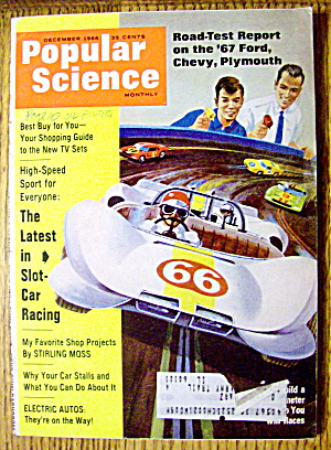 Popular Science December 1966 Latest In Slot Car Racing