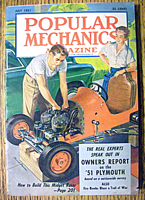Popular Mechanics July 1951 Build This Midget Racer