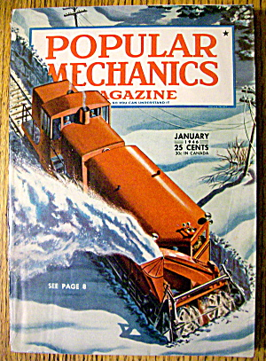 Popular Mechanics January 1946 Train Plow