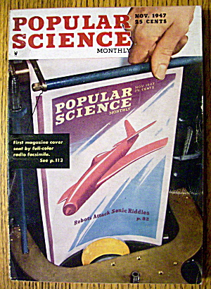 Popular Science November 1947 Robots Attack
